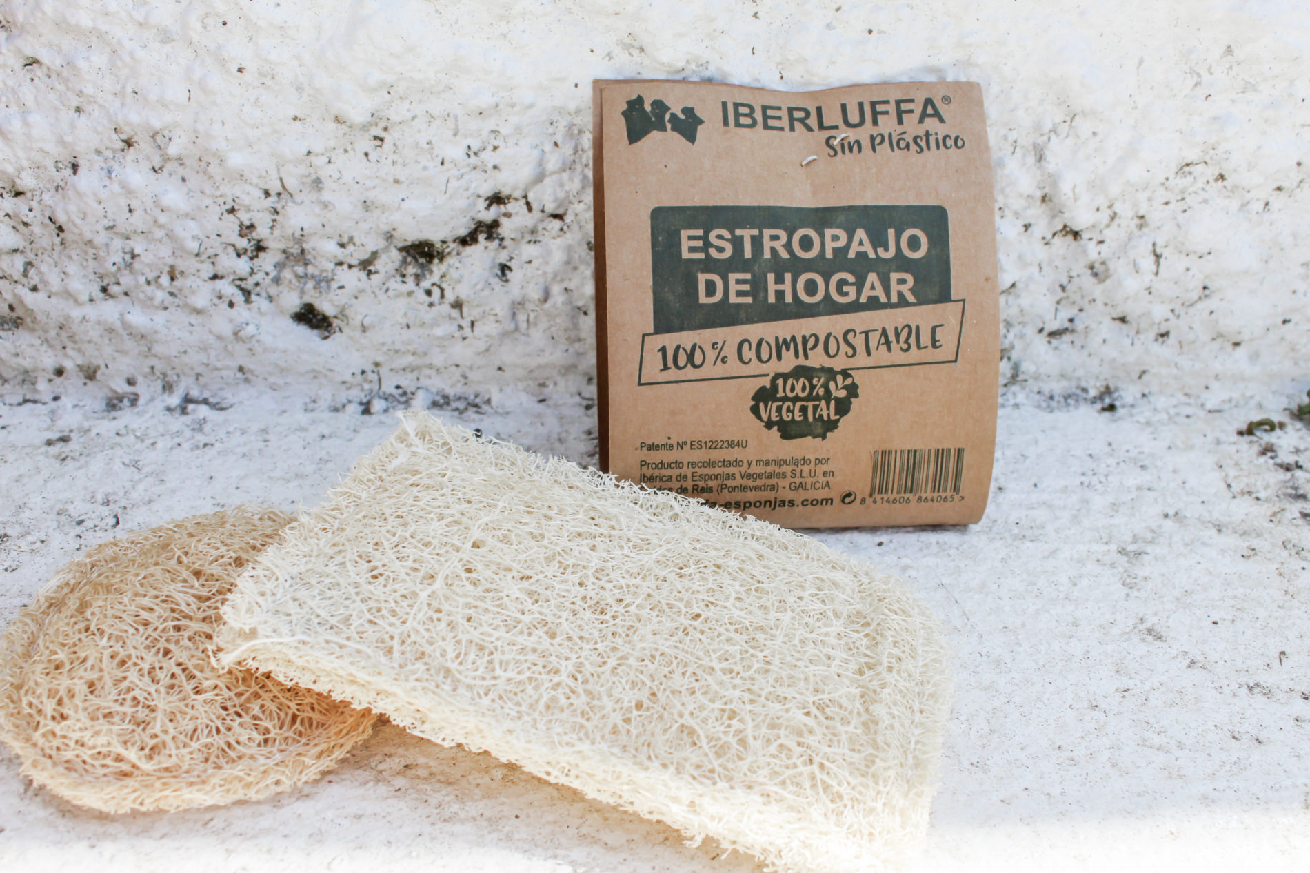 luffa biodegradable estropajo disco exfoliante